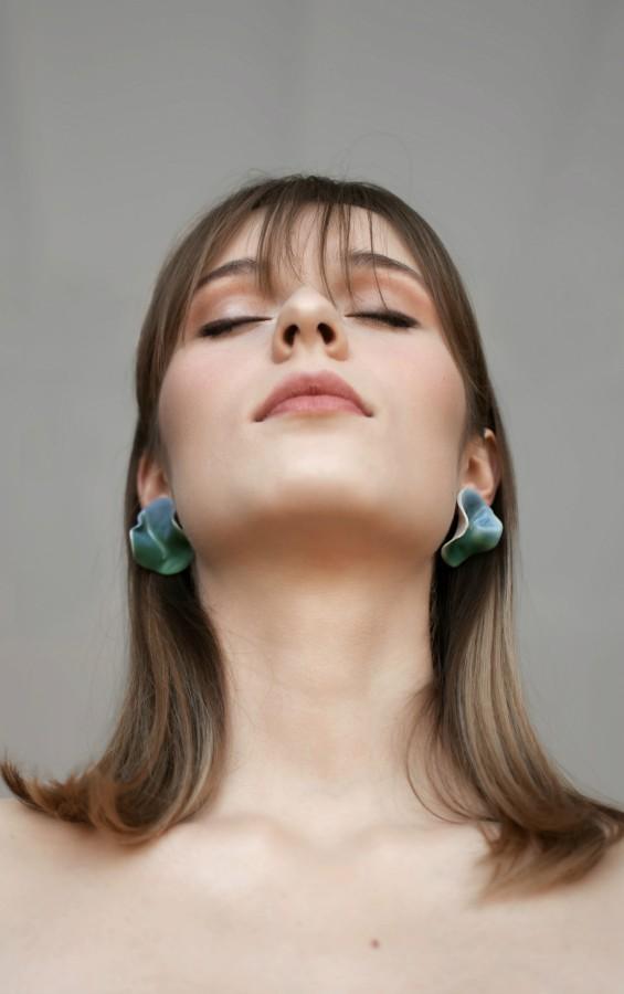 Earrings 'Deep water'